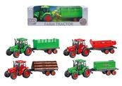 Traktor z przyczepą w pudełku mix 4 wzory 116846 cena za 1 sztukę
