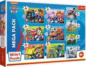 Puzzle 10w1 Poznaj Psi Patrol PAW PATROL 90381 Trefl p6