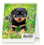 Kalendarz 2022 biurkowy mini Pieski HELMA