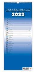 Kalendarz 2022 Slim notatnikowy niebieski