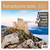 Kalendarz 2022 z naklejkami Romantyczne zamki