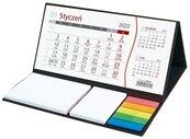 Kalendarz 2022 z notesem podkładka czarna