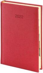 Kalendarz 2022 B6 dzienny Vivella czerwony