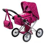 Bayer Wózek głęboki dla lalek City Star ciemno różowy