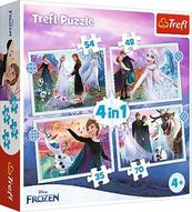 Puzzle 4w1 Magia w lesie. Kraina Lodu 2 Frozen II 34398 Trefl