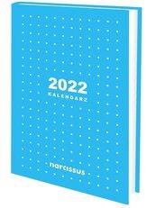 Kalendarz 2022 A6 tygodniowy niebieski NARCISSUS