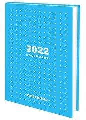 Kalendarz 2022 A5 tygodniowy niebieski NARCISSUS