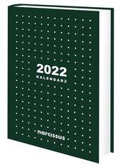 Kalendarz 2022 A5 dzienny zielony NARCISSUS