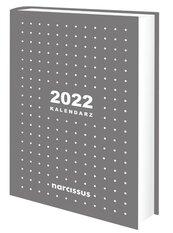 Kalendarz 2022 A5 dzienny szary NARCISSUS
