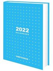 Kalendarz 2022 A5 dzienny niebieski NARCISSUS
