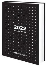 Kalendarz 2022 A5 dzienny czarny NARCISSUS
