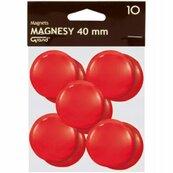 Magnes 40mm czerwony 10szt GRAND