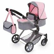 Bayer Wózek dla lalek City Neo szaro różowy z wróżką
