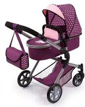 Bayer Wózek dla lalek City Neo fioletowy w serduszka