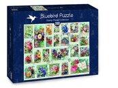 Puzzle 2000 Znaczki z kwiatami