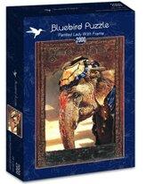 Puzzle 2000 Malowana Dama z ramą
