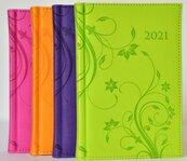 Terminarz 2022 Dzienny B6 Vivella kwiaty MIX