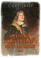 Historia armii pruskiej do 1740 roku. Tom 2