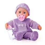 Bayer Lalka bobas Pierwsze słowa 38cm fioletowy First Words Baby 93826AA