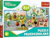 PROMO Puzzle 2w1 30+48el Rodzina Treflików 90987 Trefl p12
