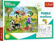 PROMO Puzzle 24el z kolorowanką Rodzina Treflików 90988 Trefl p12