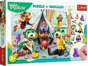 PROMO Puzzle 30el + naklejki Rodzina Treflików 90989 Trefl p12