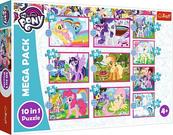 Puzzle 10w1 Niezwykłe kucyki. My Little Pony 90380 Trefl