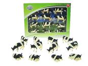 Zwierzęta domowe, krowa czarno-biała komplet x12szt cena za 12szt 571929