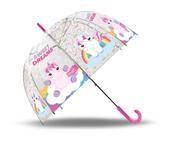Parasolka przezroczysta, manualna, 48cm Sweet Dreams KL10566 Kids Euroswan