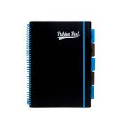Kołozeszyt A4 kratka Project Book Neon Black niebieski