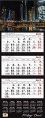 Kalendarz 2022 trójdzielny Premium City