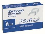 Zszywki biurowe 26/6 1000szt. GZ101-C