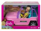 Barbie Pojazd terenowy + 2 lalki