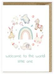 Kartka z okazji narodzin Hello little one K119