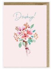 Kartka z podziękowaniem Kwiaty K112