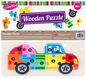 Układanka drewniana Auto 10el 14x30cm Wooden Puzzle MC