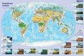 Mapa krajobrazy świata. Podkładka na biurko
