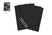 Notes czarne karteczki A4 50szt 620651