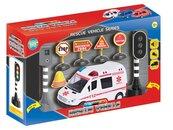 Auto ambulans ze znakami