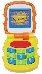 Telefon żółty ze światłem i dźwiękiem