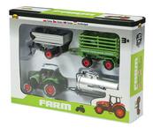 Mała farma - zestaw traktor z 3 przyczepami w pudełku 02245 DROMADER