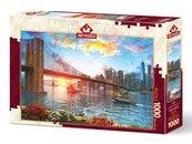 Puzzle 1000 Zachód słońca w Nowym Yorku