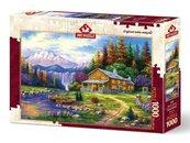 Puzzle 1000 Zachód słońca w górach