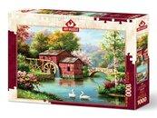 Puzzle 1000 Czerwony stary młyn