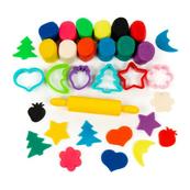 Polesie Dziecięcy zestaw - masa plastyczna Ciasto-Plastelina 12 kolorów