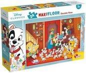 Puzzle Maxi 24 dwustronne 101 Dalmatyńczyków