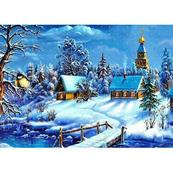 Diamentowa mozaika Wioska zimą 1005261