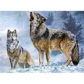Diamentowa mozaika Wilki zimą 1005260