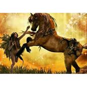 Diamentowa mozaika Koń i Elf 1005252