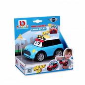 Bburago junior 81205 Mini Cooper śmijące się autko, niebieskie